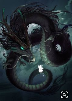 Dragon by Nguyen Trong Hao on ArtStation. Dark Fantasy Art, Fantasy Kunst, Fantasy Artwork, Mythical Creatures Art, Mythological Creatures, Magical Creatures, Fantasy Monster, Monster Art, Fantasy Beasts