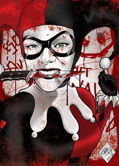 Harley Quinn by peqpit on DeviantArt Comic Book Characters, Comic Character, Comic Books Art, Comic Art, Marvel Dc, Der Joker, Joker And Harley Quinn, Comic Manga, Anime Manga