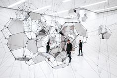 Installation view, Tomás Saraceno: Stillness in Motion—Cloud Cities, 2017 Graffiti, Cloud City, San Francisco Museums, Art Archive, Studio City, Cities, Global Art, Museum Of Modern Art, Art Club
