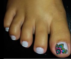 Diseño De Uñas Pies Mandalas Diseños En Uñas Nails Toe Nail Art