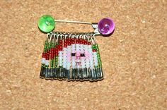 Safety Pin Crafts | 14 - 1 1/16 inch Safety Pins 1 - 2 inch Safety Pin Seed Beads (see ...