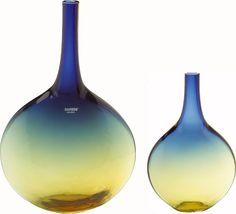 Murano Glass Alchemist Vases  Recreate this look with colored sand & your own bottle: http://storify.com/floeme10/top-4-uses-for-glass-jars