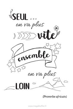 Citation : Seul on va plus vite, ensemble on va plus loin Great Quotes, Me Quotes, Inspirational Quotes, Osho, William Shakespeare, Quote Citation, Mood Tracker, French Quotes, Positive Attitude