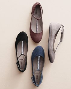 These stunning ballet flats by Nara Shoes prove that a little bling in moderation is a good thing.
