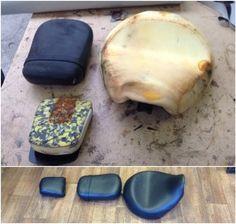 motorbike upholstery seats in vinyl Vehicle Upholstery, Motorbikes, Motorcycles, Motorcycle