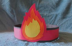 """The Day Of Pentecost  You can find this craft all over the internet. Its very quick and easy to make, but kids love making it. This craft is a good way of illustrating the story of the day of pentecost to your kids. When  they finish making this craft each child will have their very own """"tongue as of fire."""""""