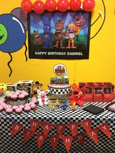 FNAF cake table decor