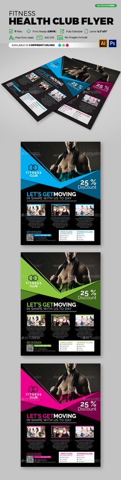 Fitness Flyer - Gym Flyer Templates Flyer template, Gym and Template - fitness brochure template
