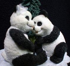 panda wedding cake toppers - @Alissa Evans Lawler hahahah
