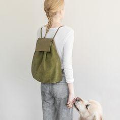 handmade suede backpack III store.mumand.co