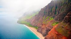 This 15-mile stretch of lush hanging valleys; 4,000-foot cliffs; and long, sinuous waterfalls is called the Na Pali Coast, and it harbors one of the Pacific's most spectacular beaches: Kalalau.