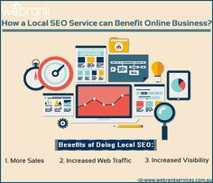 How a local SEO service can benefit online business? #Google always love the local results. In the local searches the Google automatically returns the results based on the user's location. Practically any business can take advantage of local SEO's benefits. http://webrankservices.com.au/what-we-do/seo-services-australia/