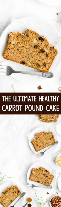 The Ultimate Healthy Carrot Pound Cake Homemade Carrot Cake, Healthy Carrot Cakes, Best Carrot Cake, Healthy Desserts, Delicious Desserts, Healthy Recipes, Healthy Smoothies, My Recipes, Baking Recipes