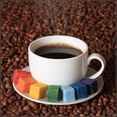 Rainbow sugar.  For when you need that extra pick me up in the morning.