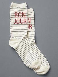 Bonjour crew socks