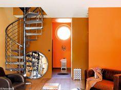 Peinture : de la couleur sur les murs Kare Design, Home Appliances, Interior Design, Images, Inspiration, Home Decor, Living Room, Shades, Orange Interior