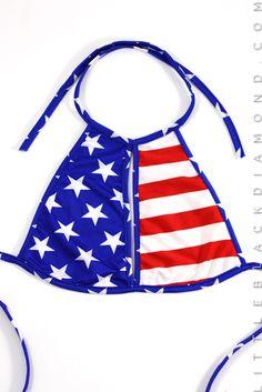 american-flag blue halter-top halter-tops red star tops white Women American Flag Halter Top