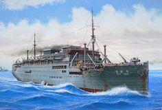 Mercante armado Teia Maru 1932, hundido por submarino USS Rasher en Luzón 1944