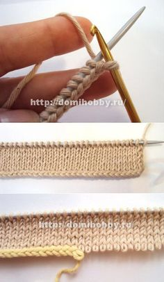 Crochet Cast on, alternative to knitting, cool idea and very nice …. Crochet Cast on, alternative knitting stitch, cool idea and very nice …. Knitting Help, Knitting Stiches, Loom Knitting, Knitting Needles, Crochet Stitches, Hand Knitting, Knitting Patterns, Crochet Patterns, Knit Or Crochet
