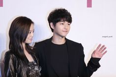 Song Joong Ki 송중기 with Moon Chae Won at the press conference of Nice Guy.