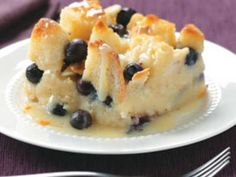 Over the Top Blueberry Bread Pudding-This combination of white chocolate and blueberries in bread pudding is fantastic. It is the best bread pudding my husband said he has ever tasted. I am so glad I found this recipe.