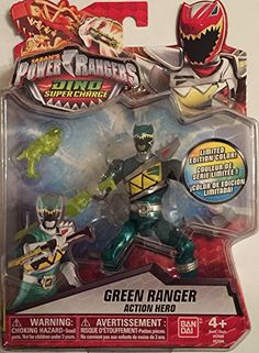 Saban's Power Rangers Dino Super Charge Green Ranger Translucent Limited Edition Exclusive Figure