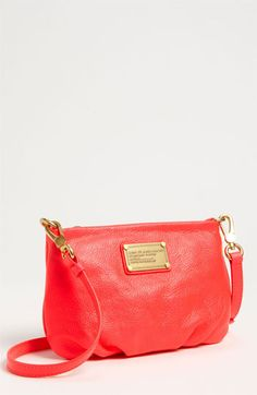 MARC BY MARC JACOBS 'Classic Q - Percy' Crossbody Bag, Small #Nordstrom (The pink looks more like coral, right?)