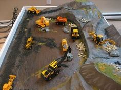 DIY train table or construction table. Riley likes trains and contruction. I think Ray and I could do this.
