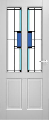 2adore binnendeur Amarylis met glas-in-lood Dill 12 jaar garantie
