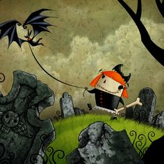 #Halloween Art. Bat Kite