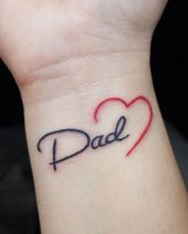 small tattoos with meaning . small tattoos for women . small tattoos for women with meaning . small tattoos for women on wrist . small tattoos with meaning inspiration Mum And Dad Tattoos, Tattoos For Dad Memorial, Daddy Tattoos, Father Tattoos, Tattoos For Daughters, Wrist Tattoos, Tattoos For Guys, Daughter Tattoo Father, Daddys Girl Tattoo