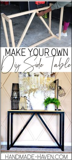 How To build a DIY console table. #console #diy