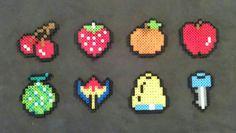 Perler Pac-Man Bonus Fruit. by Pika-Robo