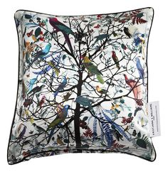 Silk hjartar tre cushion cover, medium - silk - at mydeco.com - Shop for your home from Europe's best boutiques. This product is delivered by Kristjana S Williams Studio