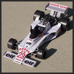 F1 Paper Model - 1977 Ford Ensign N177 (Patrick Tambay) Free Template Download - http://www.papercraftsquare.com/f1-paper-model-1977-ford-ensign-n177-patrick-tambay-free-template-download.html