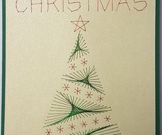 Paper Embroidery, String Art, Card Stock, Christmas Cards, Triangle, Handmade, 3d, Xmas, Cards