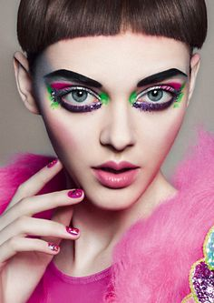 heiko palach make-up + hair I am loving this makeup so bold and creative Makeup Art, Beauty Makeup, Eye Makeup, Hair Makeup, Crazy Makeup, Makeup Looks, Asian Makeup Prom, Asian Makeup Before And After, Foto Fashion