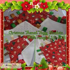 Xmas Taggy Blankets - Baby's First Xmas Small size £10, Medium size £14, Large size £18