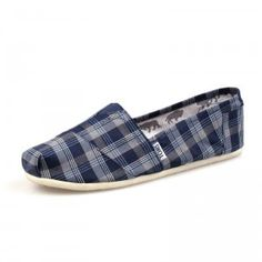 $27.06 on sale! Men Canvas Blue Blue Toms Shoes