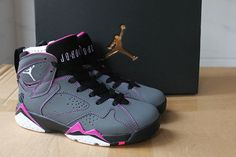 2af38cd4ce4e Cheap Priced Air Jordan 7 Men Valentines Day Dark Grey White Black Fuchsia  Flash Size 10.5