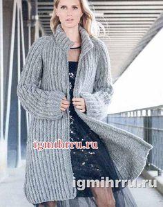 теплое пальто свободного силуэта