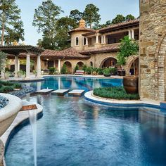 Stunning Mediterranean style home by Jauregui Architect.
