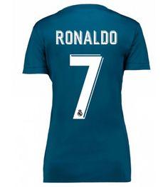 Real Madrid Cristiano Ronaldo 7 Tredjeställ Dam 17-18 Real Madrid Cristiano Ronaldo, Barn, Sports, Sport, Warehouse, Barns, Shed