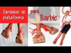 Sandalias de plataforma para Barbie - YouTube