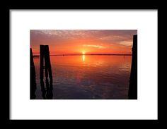 fort myers, florida, sunset, nature, pier, silhouette, caloosahatchee river, reflection, landscape, michiale schneider photography, interior decor, framed prints