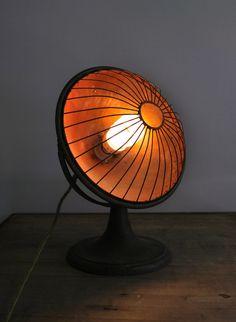 Vintage Re-purposed Heat Lamp Now Light