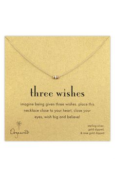 Dogeared 'Three Wishes' Pendant Necklace available at #Nordstrom