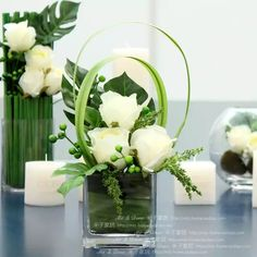 Modern brief fashion home decoration goldenbarr white rose glass square cylinder overall floral _ categoryName AliExpress Mobile Version Flowers Modern Flower Arrangements white Contemporary Flower Arrangements, Small Flower Arrangements, Vase Arrangements, Flower Centerpieces, Flower Vases, Flower Decorations, Wedding Centerpieces, Centrepieces, Dried Flowers
