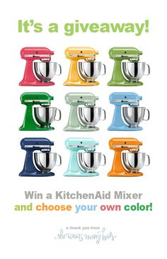 KitchenAid #Giveaway @Amy Johnson / She Wears Many Hats to celebrate 4 year anniversary on her blog.  Come celebrate and enter this wonderful giveaway.