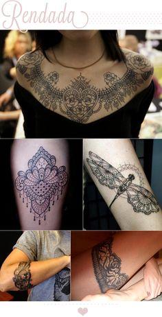 Ricota Não Derrete: Tatuagem de renda